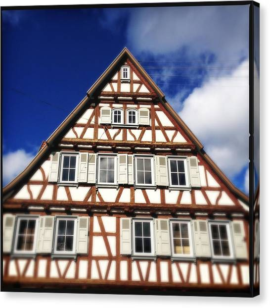 House Canvas Print - Half-timbered House 03 by Matthias Hauser