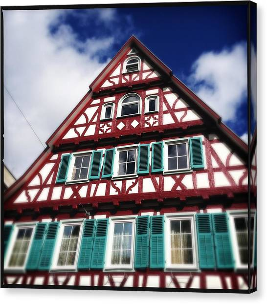 House Canvas Print - Half-timbered House 04 by Matthias Hauser