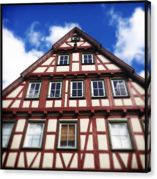 House Canvas Print - Half-timbered House 05 by Matthias Hauser