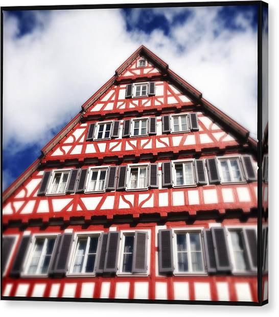 House Canvas Print - Half-timbered House 06 by Matthias Hauser