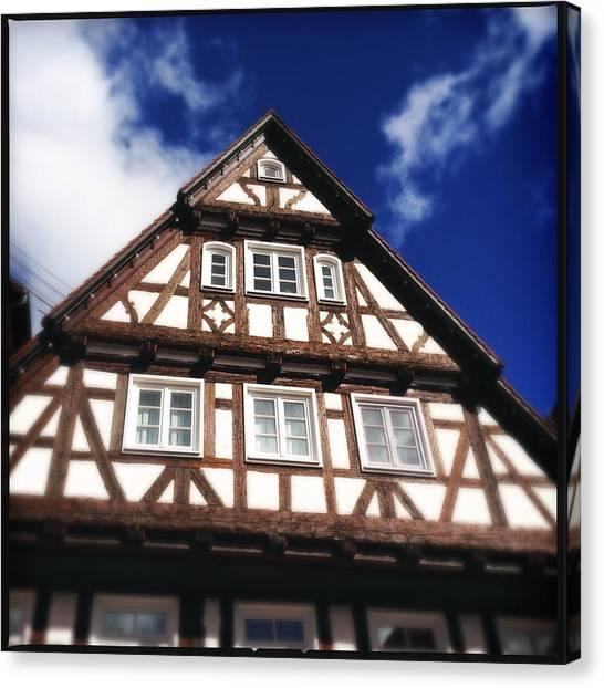 House Canvas Print - Half-timbered House 08 by Matthias Hauser