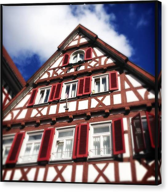 House Canvas Print - Half-timbered House 09 by Matthias Hauser
