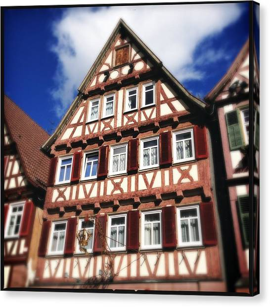 German Canvas Print - Half-timbered House 10 by Matthias Hauser