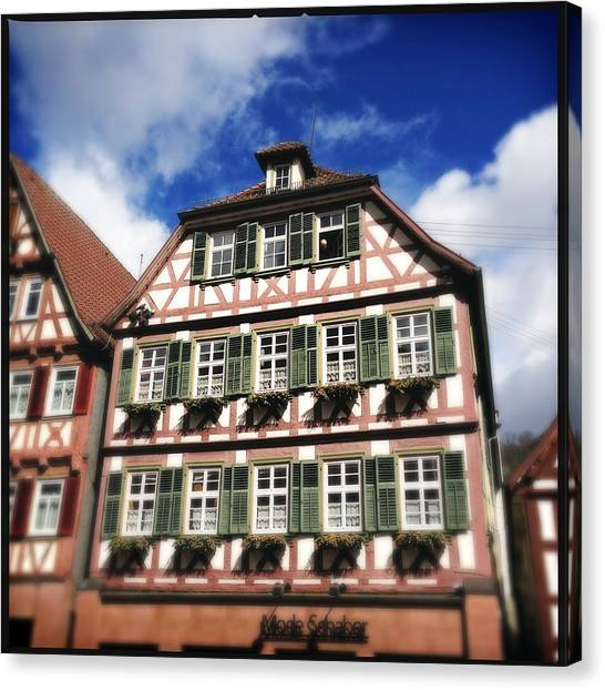 House Canvas Print - Half-timbered House 11 by Matthias Hauser