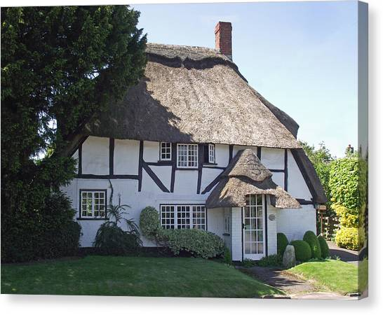 Half-timbered Thatched Cottage Canvas Print