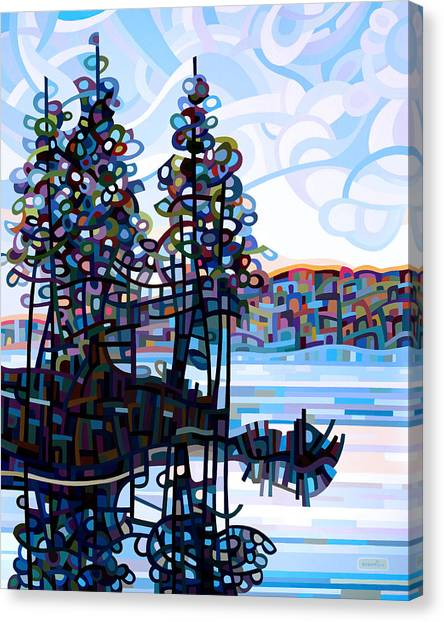 Pine Trees Canvas Print - Haliburton Morning by Mandy Budan