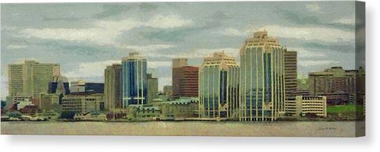 Halifax From The Harbour Canvas Print