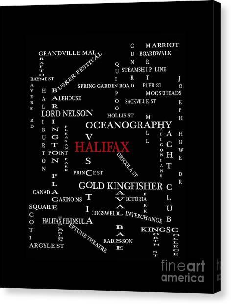 Halifax Nova Scotia Landmarks And Streets Canvas Print