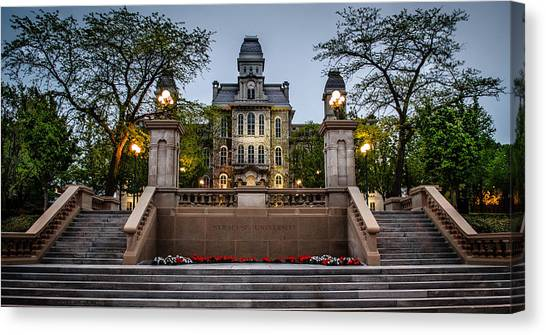 Syracuse University Canvas Print - Hall Of Languages by Robert Green