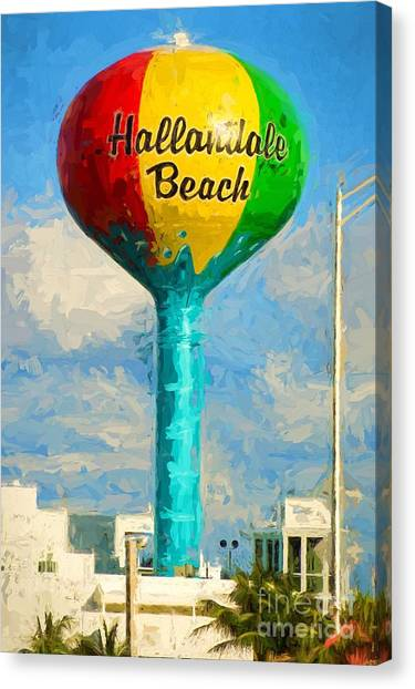 Hallandale Beach Water Tower Canvas Print