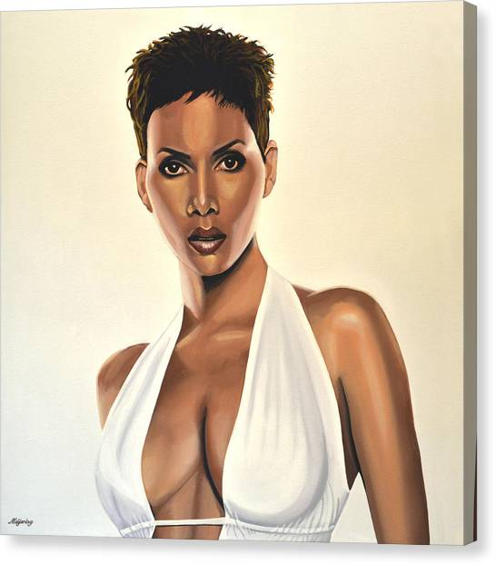 Swordfish Canvas Print - Halle Berry Painting by Paul Meijering