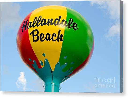 Hallendale Beach Water Tower Canvas Print