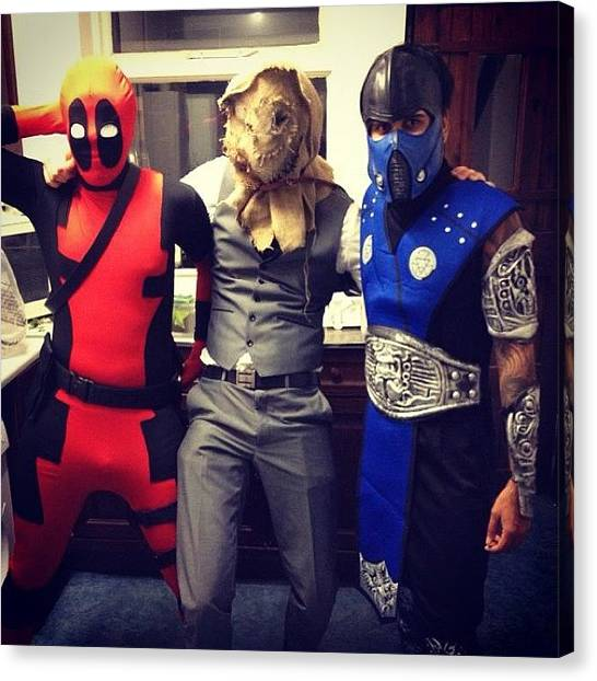 Scarecrows Canvas Print - Halloween Costumes! #deadpool #subzero by William Wilkie