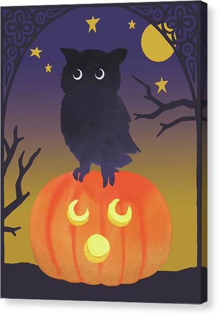 Halloween Canvas Print - Halloween Critter IIi by Beth Grove