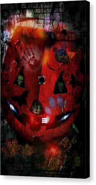 Halloween Canvas Print by Denisse Del Mar Guevara