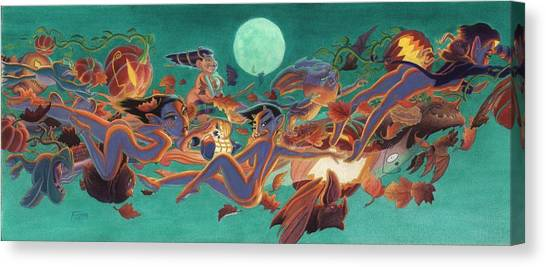 Halloween Frolics Canvas Print