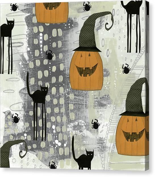 Halloween Canvas Print - Halloween Pattern 2 by Sarah Ogren