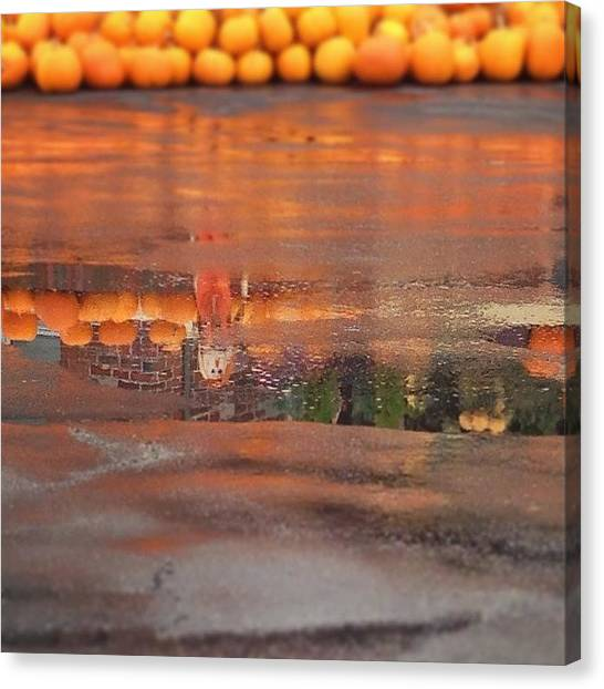 Scarecrows Canvas Print - Autumn Reflections by Alison Photography