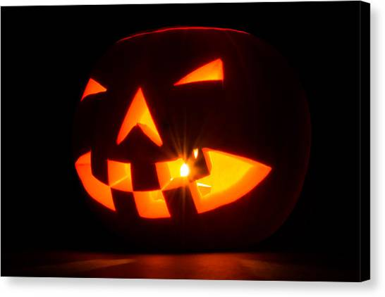 Halloween - Smiling Jack O' Lantern Canvas Print