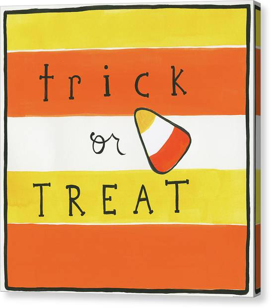 Halloween Canvas Print - Halloween Trick Or Treat Candy Corn by Melissa Averinos