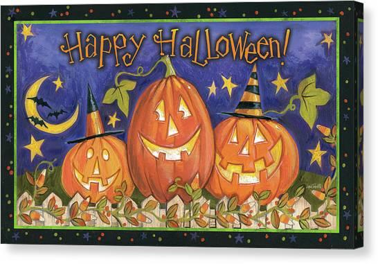 Pumpkin Patch Canvas Print - Halloween Wishes I by Anne Tavoletti