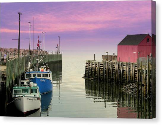 Halls Harbour Evening Canvas Print