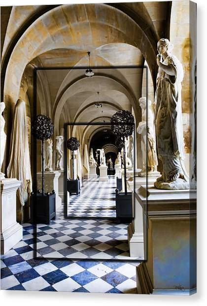 Halls Of Versailles Paris Canvas Print