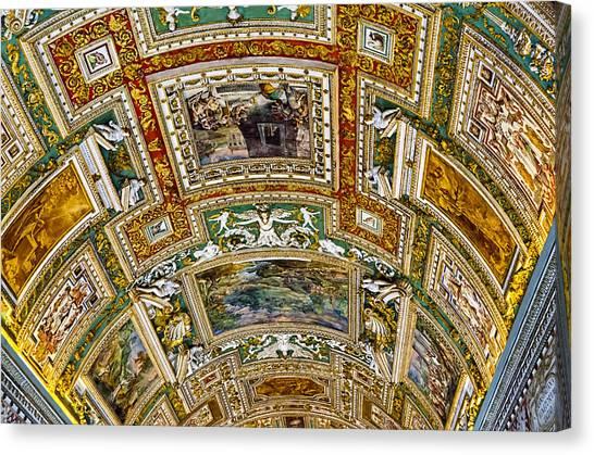 The Vatican Museum Canvas Print - Hallway Art - Vatican Museum by Jon Berghoff