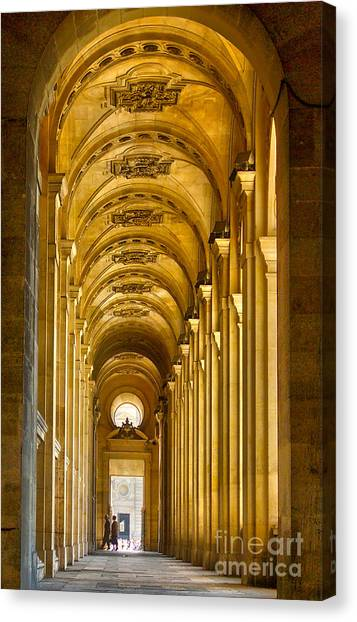 Hallway At The Louvre In Paris Canvas Print