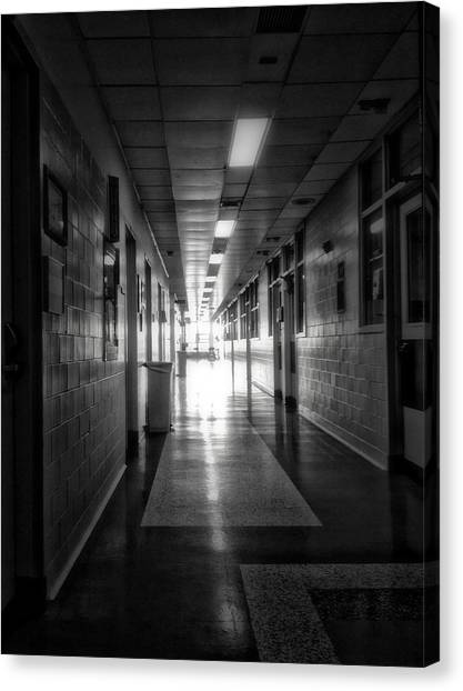 Linoleum canvas print hallway by h james hoff