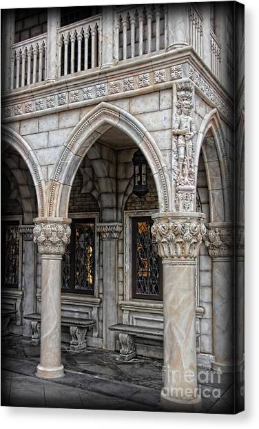 Hallways Of St. Mark's Canvas Print by Lee Dos Santos