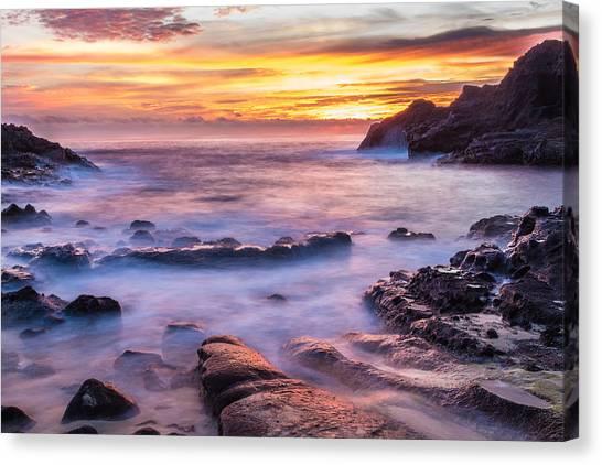 Halona Cove Sunrise 3 Canvas Print