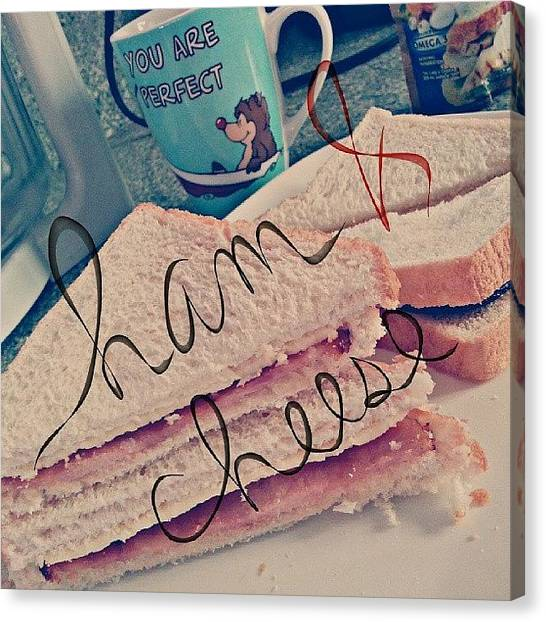 Sandwich Canvas Print - Ham & Cheese :) by Ariele Infantado