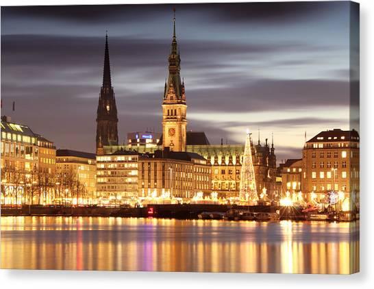 Hamburg Christmas Canvas Print