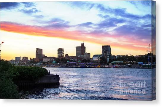 Hamburg Riverside Canvas Print