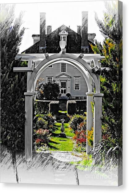 Hamilton House Gardens Canvas Print