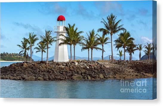 Hamilton Island Lighthouse Canvas Print by Shannon Rogers
