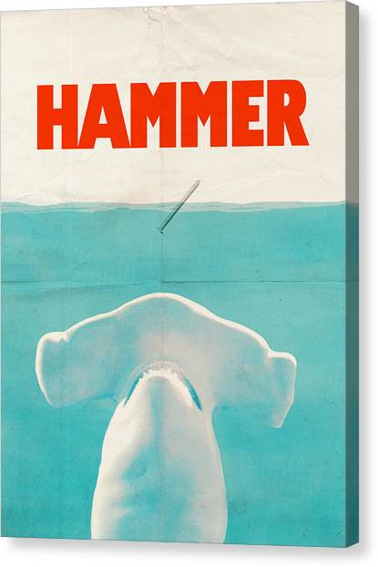 Shark Canvas Print - Hammer by Eric Fan