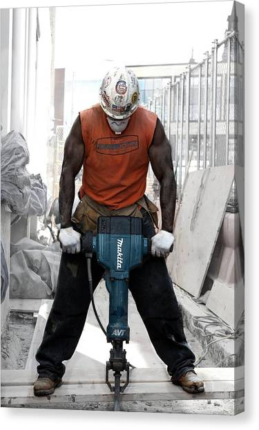Jackhammers Canvas Print - Hammer Time by Brian Winsauer