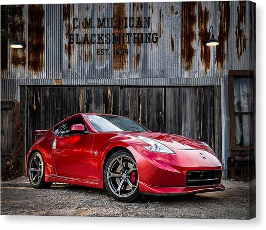 Nissan Z Canvas Print   Hammer Time By Douglas Pittman