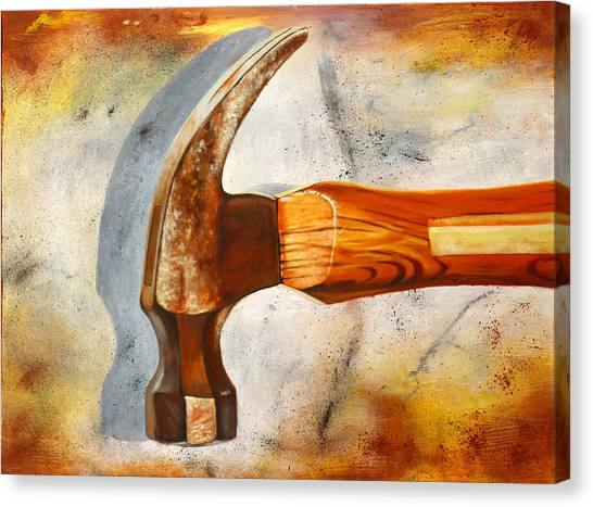 Hammers Canvas Print - Hammered by Karl Melton