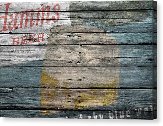 Beer Can Canvas Print - Hamms Beer by Joe Hamilton