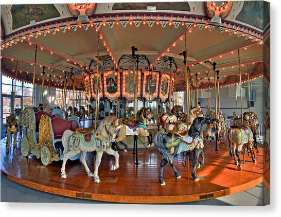 Hampton Carousel 2 Canvas Print