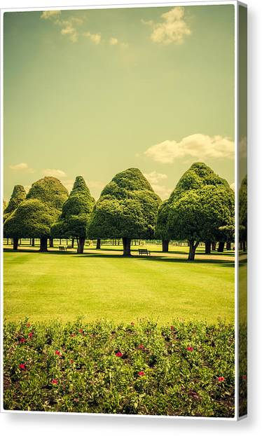 Hampton Court Palace Gardens Summer Colours Canvas Print