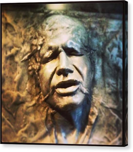 Jedi Canvas Print - Han Solo Trapped In Carbonite by Eric Dick