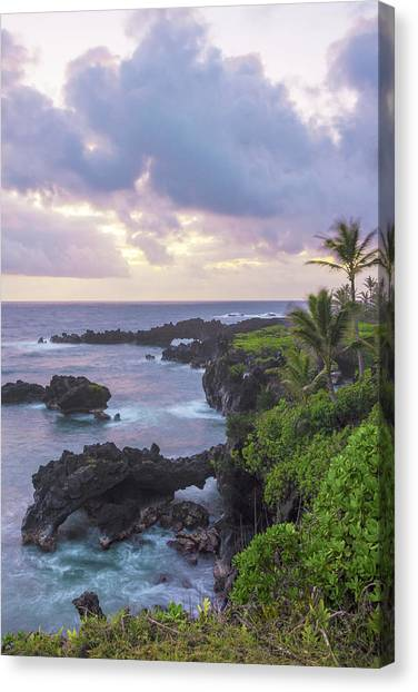 Lava Canvas Print - Hana Arches Sunrise 3 - Maui Hawaii by Brian Harig
