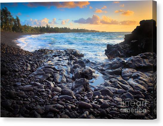 Splashy Canvas Print - Hana Bay Sunrise by Inge Johnsson