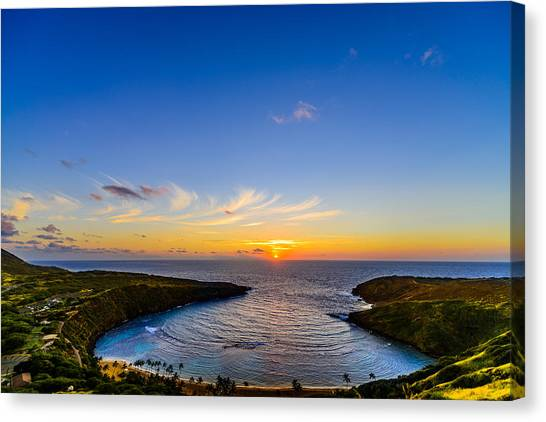 Hanauma Bay Sunrise Canvas Print
