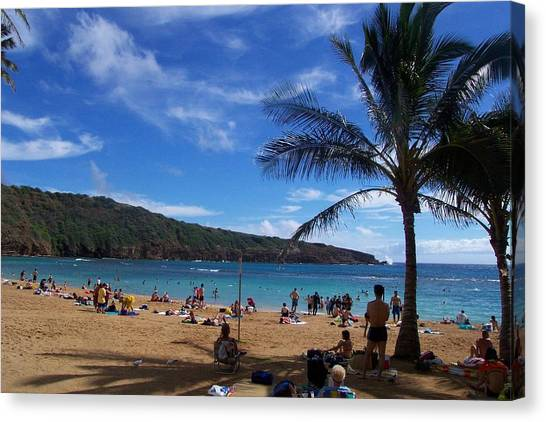 Hanauma Beach  Canvas Print