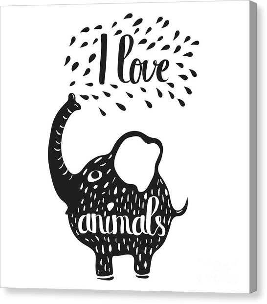 Pencil Art Canvas Print - Hand Drawn Lettering Typography Poster by Alena Dubinets